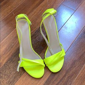 Express Neon Heels - size 6